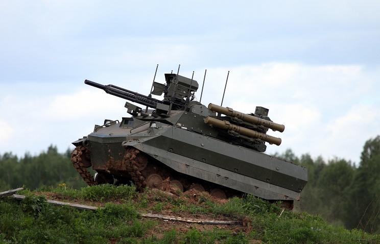 """Роботизированный комплекс """"Уран-9""""."""