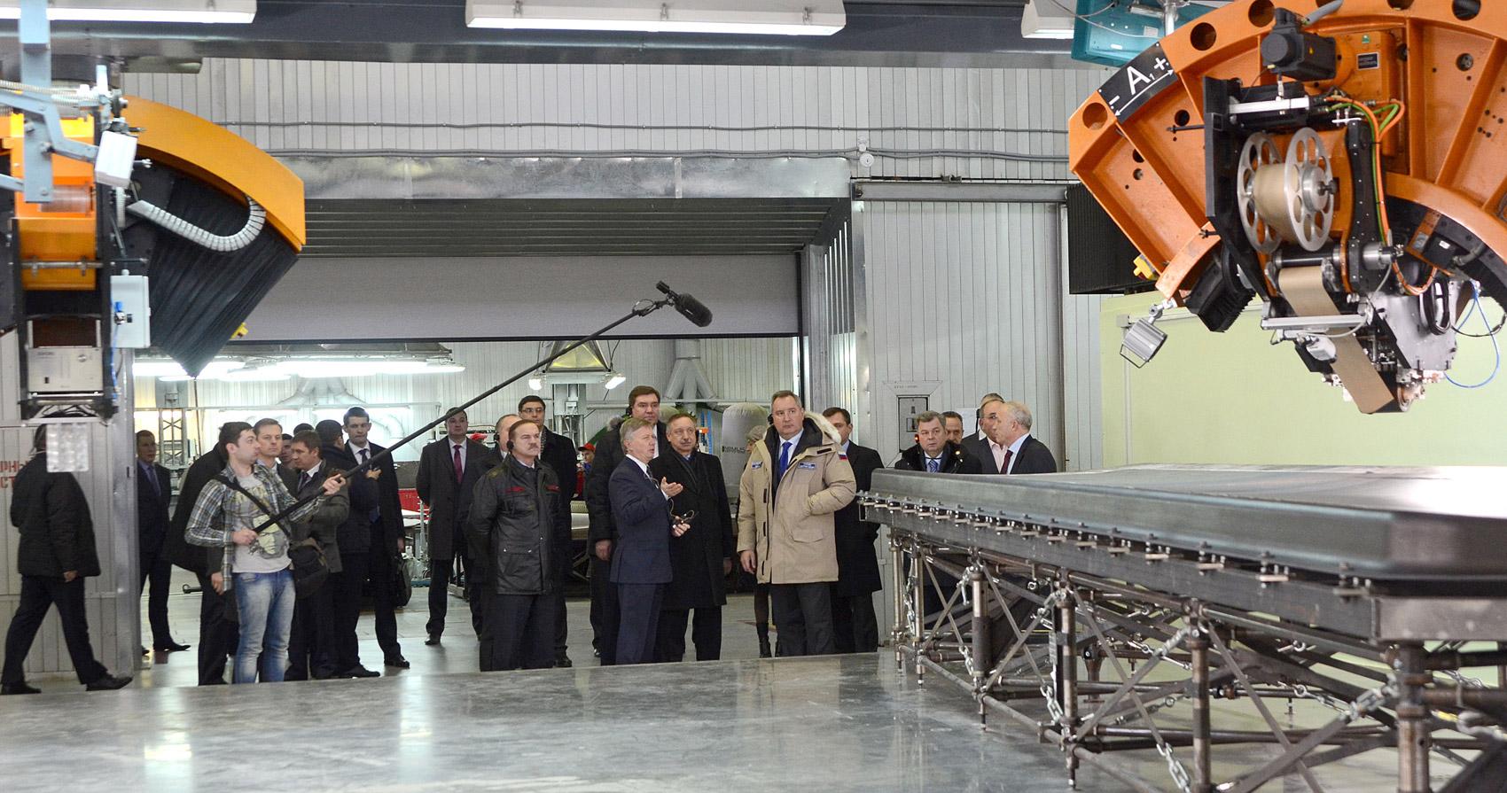 Дмитрий Рогозин посетил обнинское предприятие «Технология» холдинга «РТ-Химкомпозит».