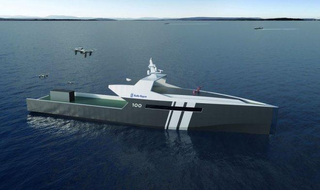 Макет военно-морского судна робота компании Rolls-Royce.