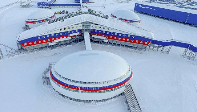 Российская военная база Арктический трилистник в Арктике. Архивное фото.