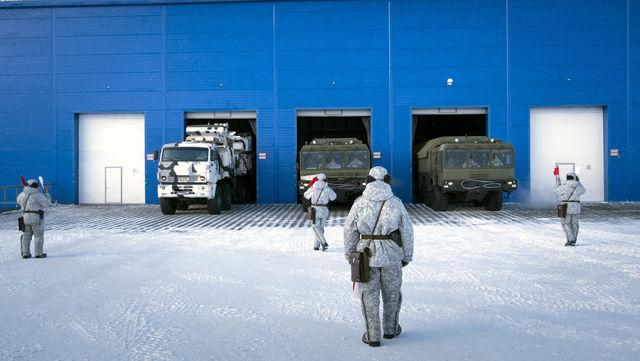 Российская военная база Северный Клевер в Арктике