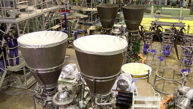 Российские ракетные двигатели РД-180. Архивное фото