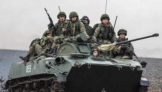Российские военнослужащие во время учений Славянское братство-2016. Архивное фото.