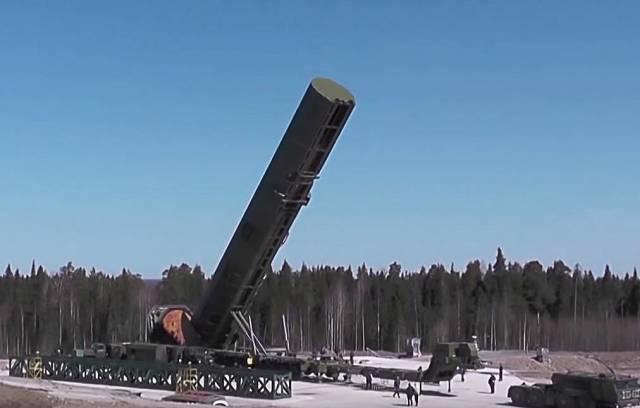 """Российский ракетный комплекс наземного шахтного базирования РС-28 """"Сармат"""""""