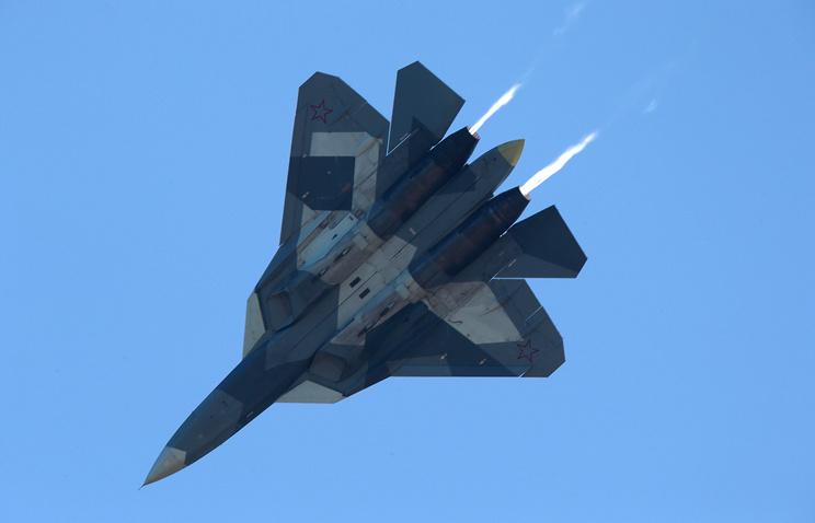 Российский истребитель пятого поколения Су-57.