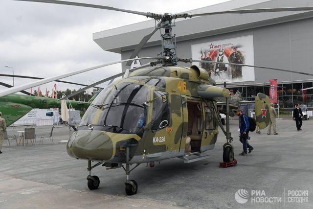 Российский многоцелевой вертолет Ка-226 на форуме Армия-2018 в Кубинке