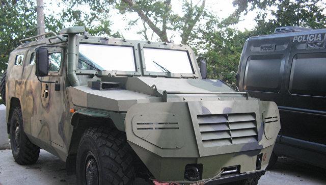 Российский многофункциональный бронеавтомобиль повышенной проходимости ГАЗ-233036 Тигр СПМ-2. Архивное фото.