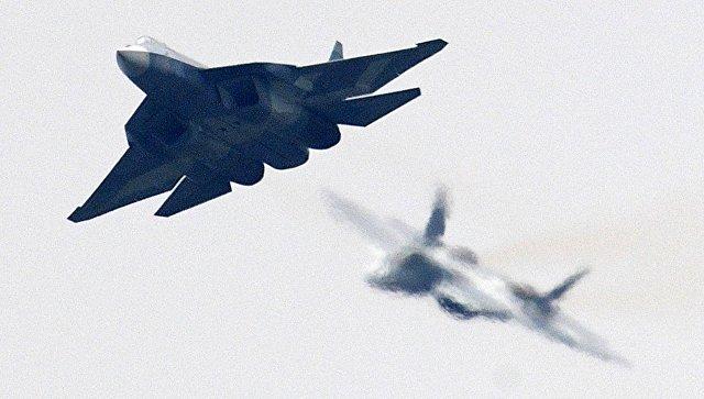 Российский многофункциональный истребитель пятого поколения. Архивное фото.