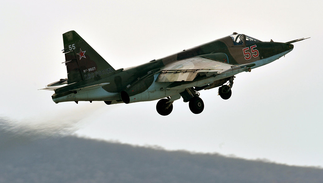 Российский штурмовик Су-25.