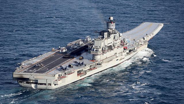 Российский тяжёлый авианесущий крейсер Адмирал Кузнецов.