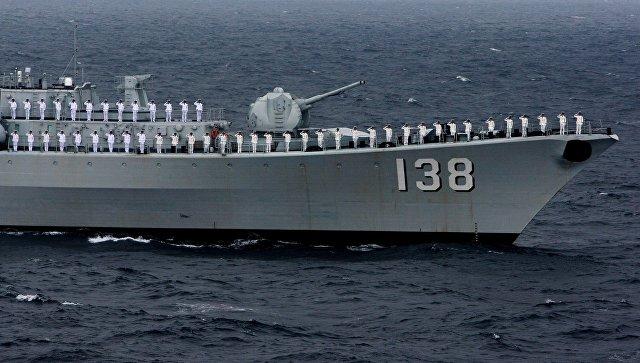 Российско-китайские учения Морское взаимодействие.