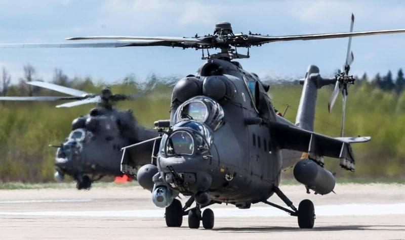 Вертолеты Ми-35М.