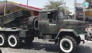 РСЗО Бастион 1 на шасси грузовика КрАЗ-6322ПА ВС Сенегала.