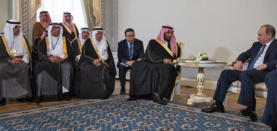 Владимир Путин и Мухаммед бен Салман