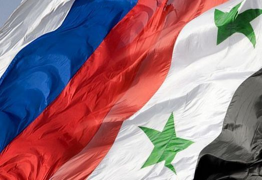 Флаги России и Сирии
