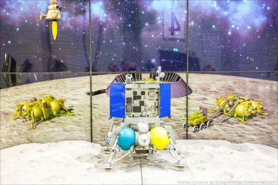 Макет российского лунного модуля