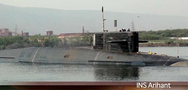 Индийская атомная подводная лодка национальной постройки S 73 Arihant.