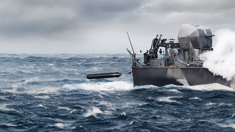 Иллюстрация на тему создания компанией Saab легких торпед SLWT (Swedish Light Weight Torpedo) для ВМС Швеции.