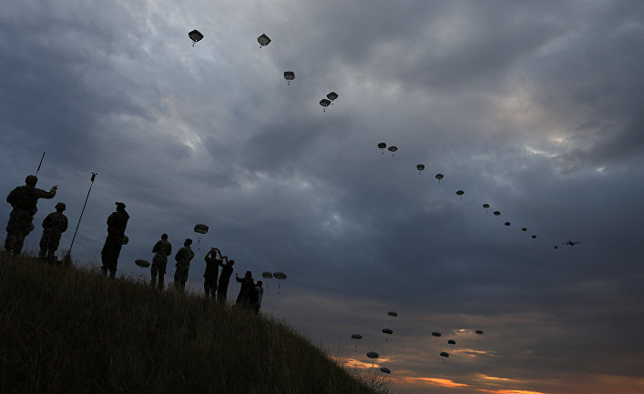Военные учения НАТО Saber Guardian 17 на аэродроме Безмер, Болгария.