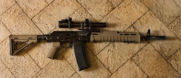 «Сайга МК» 223 калибра Rem, подготовленная для практической стрельбы.