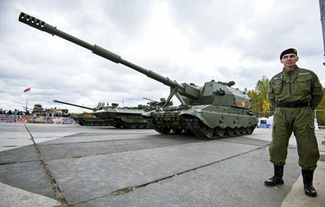"Самоходное артиллерийское орудие 2С35 на базе Т-90 ""Коалиция-СВ"" на 10-й международной выставке Russia Аrms Еxpo"