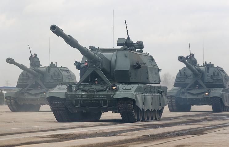 """Самоходные артиллерийские установки """"Коалиция-СВ""""."""