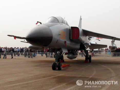 Самолет JH-7A на международном авиасалоне Airshow China. Архивное фото.