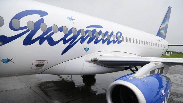 """Самолет SSJ100 компании """"Якутия"""""""
