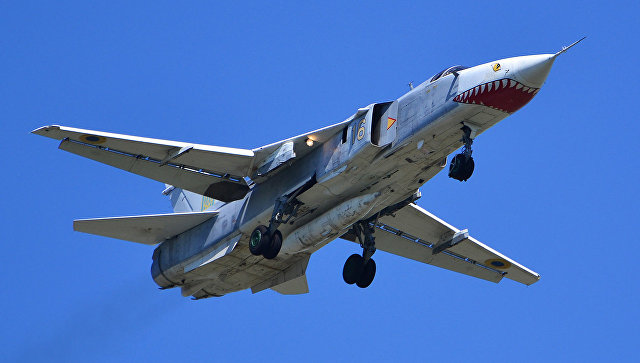 Самолет Су-24МР украинских ВВС.