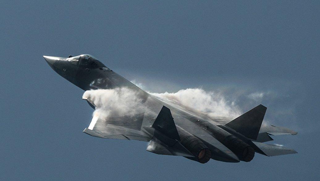Самолет Су-57. Архивное фото.