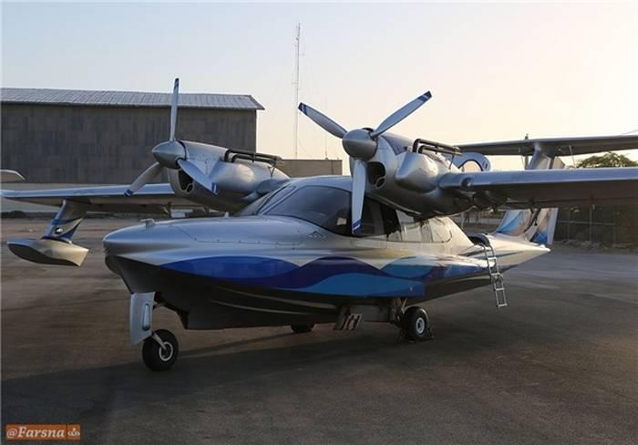 Самолет-амфибия ЛА-8 в Иране.