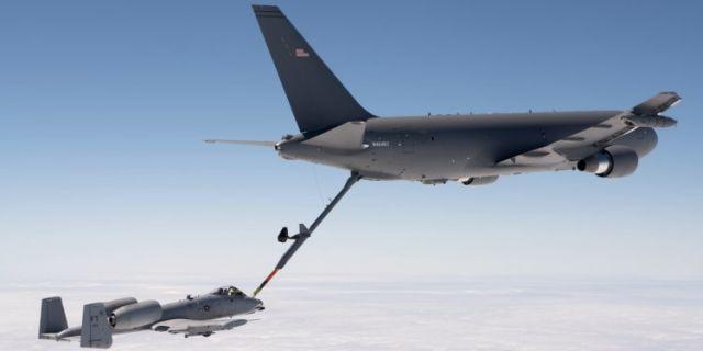 Самолет-заправщик КС-46 и штурмовик A-10