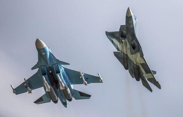 Су-34 и Т-50