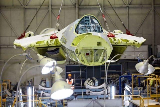 Сборка Су-57 на КнААЗ