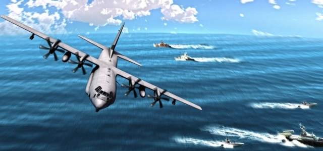 Рисунок самолета - SC-130J Sea Herc.
