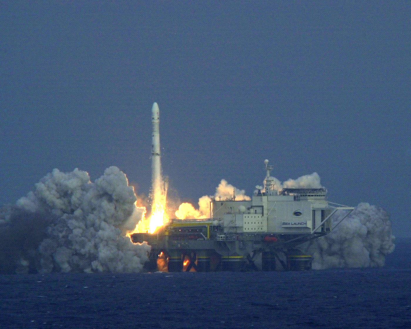 Проект &quot;Морской старт&quot; является проектом создания и эксплуатации ракетно-космического комплекса морского базирования (РККМБ)<br>Источник: http://land-launch.narod.ru/.