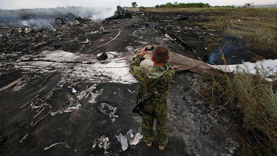 Село Грабово. Место крушения Boeing 777 (рейс MH17), 17 июля 2014 года.