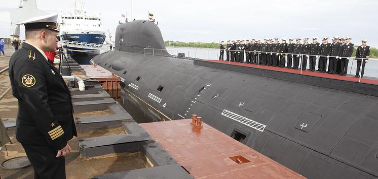 """Подводная лодка """"Северодвинск"""" класса """"Ясень""""."""