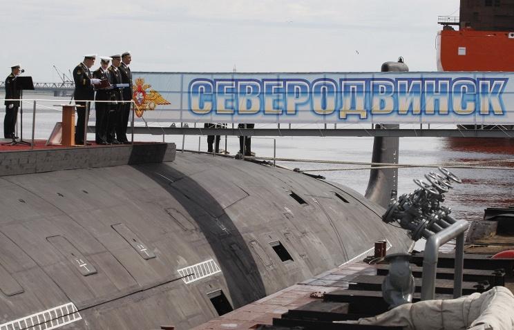"""Головная подводная лодка проекта 885 """"Ясень"""" - """"Северодвинск""""."""