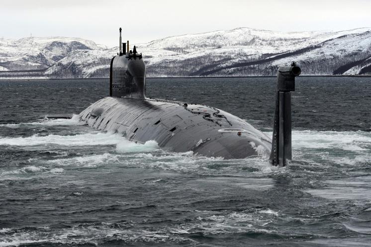 """Атомная подводная лодка """"Северодвинск""""."""