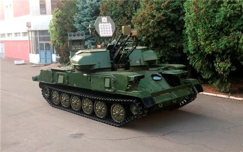 """Украинская """"Шилка"""" ЗСУ-23-4М-А."""