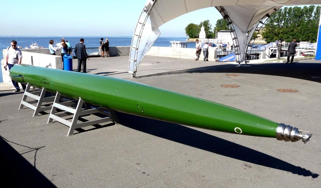 """Подводная ракета """"Шквал-Э"""" разработки ГНПП """"Регион""""."""