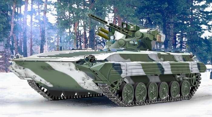 Украинская БМП-1 с боевым модулем Шквал.