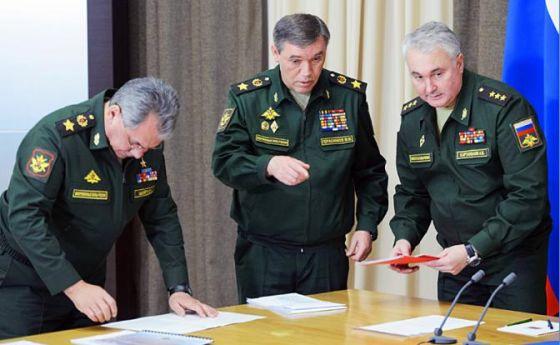 Сергей Шойгу, Валерий Герасимов, Андрей Картаполов