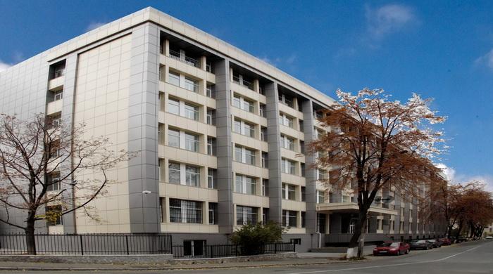 Штаб-квартира Службы внешней разведки Украины в Киеве.