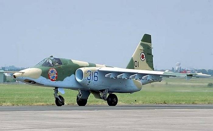 Штурмовик Су-25 ВС Грузии.