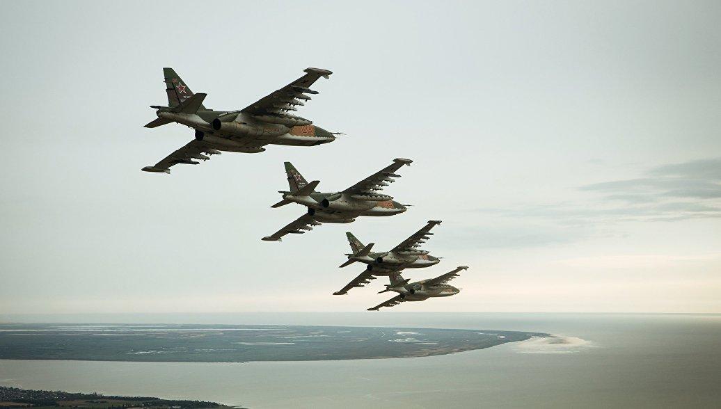 Штурмовики Су-25СМ3. Архивное фото.