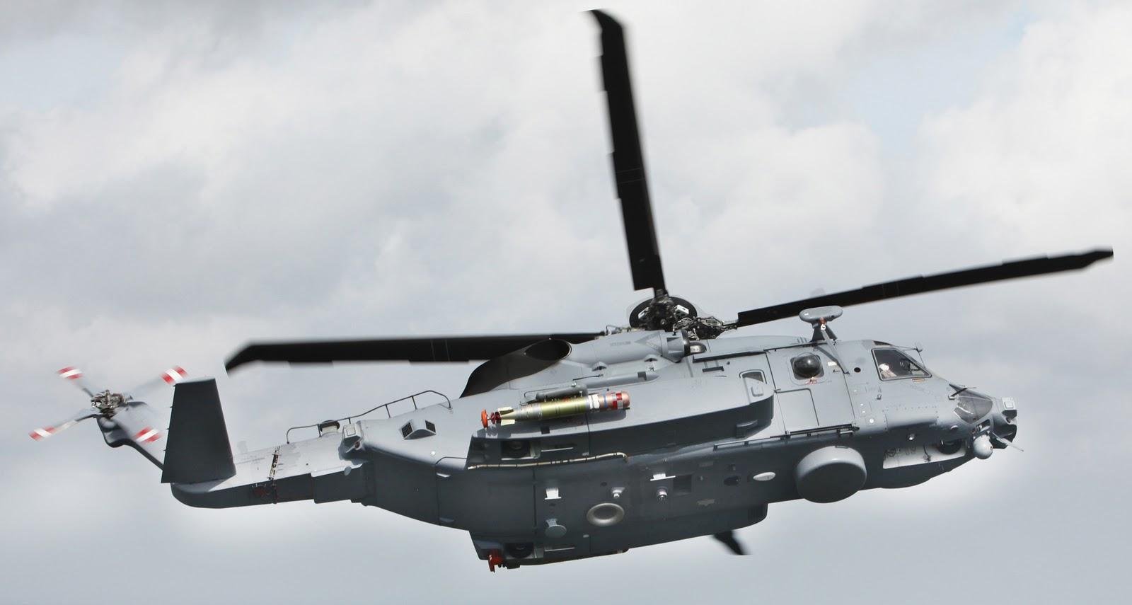 Облик канадского противолодочного вертолета Sikorsky CH-148 Cyclone в полной конфигурации.