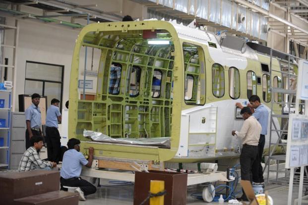Сборка на субподрядной основе грузовых кабин вертолетов Sikorsky S-92 на производственной площадке компании Tata Advanced Systems группы Tata в индийском городе Хайдарабад (c) livemint.com.