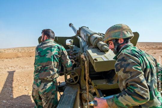Сирийские артиллеристы